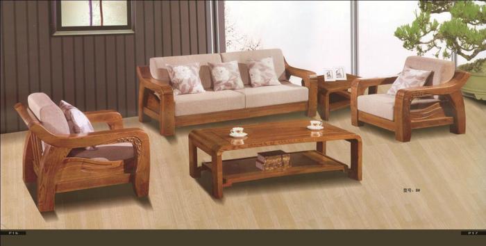 买榆木家具的必看 厂家直销榆木沙发 床1.8米.带两柜