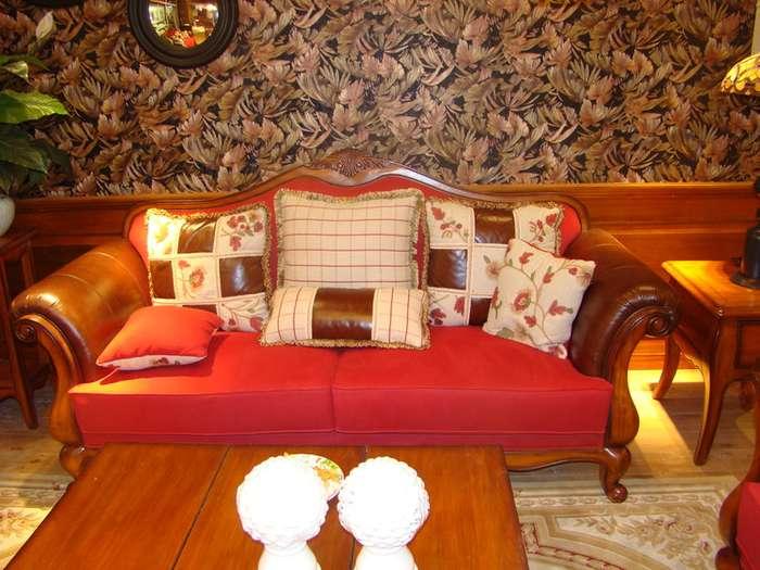 迦南橄榄树实木全新田园欧美沙发进价出售