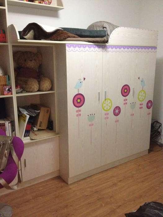 衣柜书柜书桌床一体柜