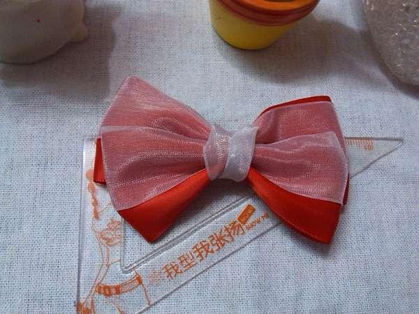 红色迷人雪纱蝴蝶结头箍