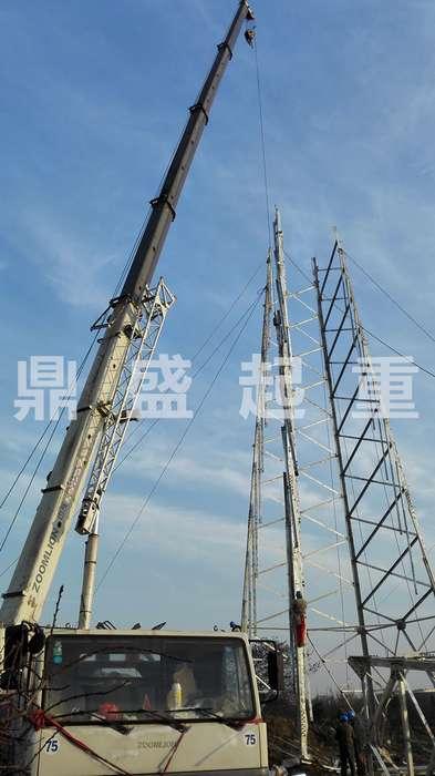 常州吊车出租:塔吊吊装
