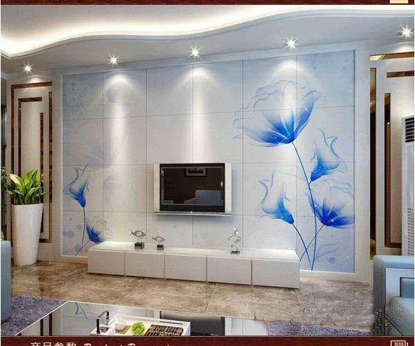 专业定制时尚高端客厅电视背景墙壁画