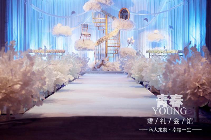 纯白西式婚礼布置!青春婚礼会馆_常州婚庆服务_化龙巷