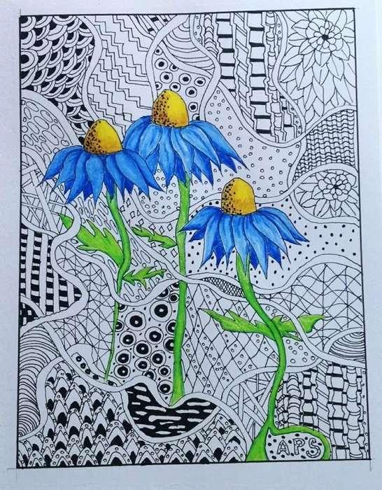 线描画是用线条的变化来描绘物体的形态及其结构的一种绘画形式,同时也是儿童画中最基本的表现形式。各种各样点、线的随意或有序排列组合会产生很多不同的效果,绘画过程充满了趣味性。线描画对培养孩子的想象力和创造力很有帮助,还能让他们轻易地体验到创造的乐趣,激发他们学习美术的热情.