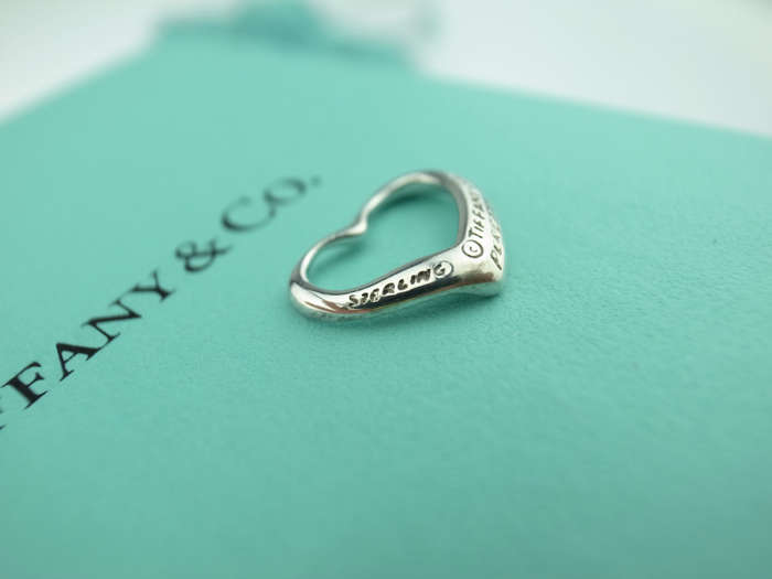 转让蒂芙尼tiffany & co open heart系列 正品 心型 纯银 16mm图片