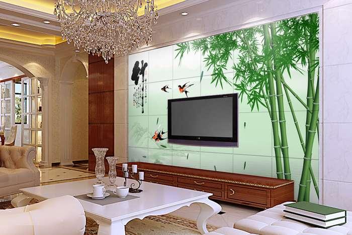 制客厅电视背景墙