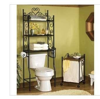 欧式铁艺马桶架收纳架多层置物架浴室角架卫生间落地