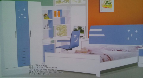 欧式儿童床系列套房 1.5x2
