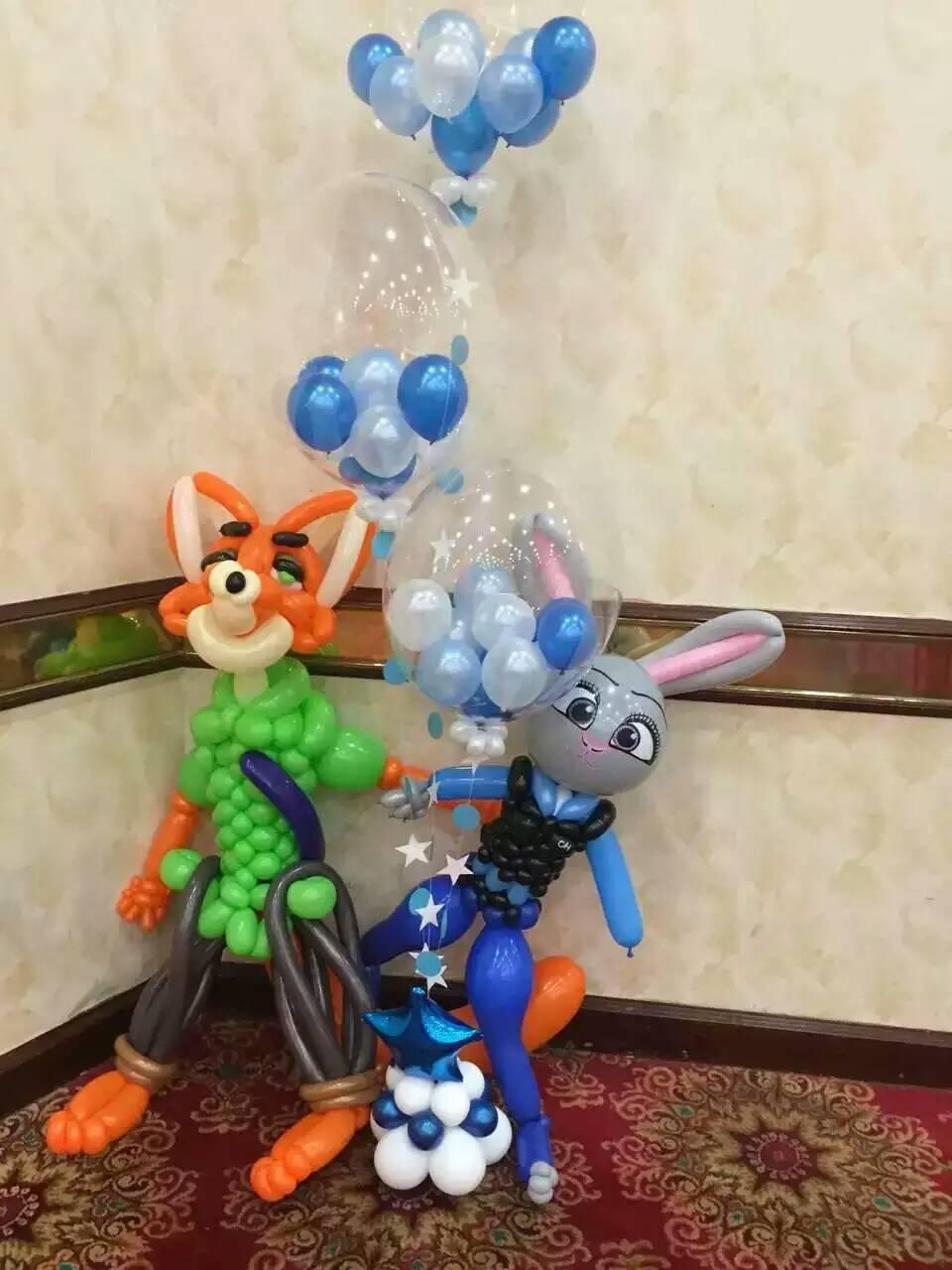 疯狂动物城主题,气球场地布置,常州生日派对,宝宝宴气球装饰 - [举报]