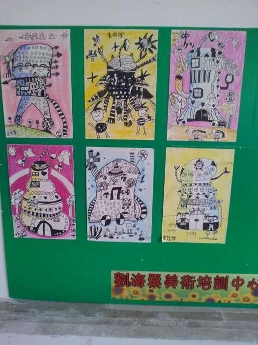 六年级美术线描画