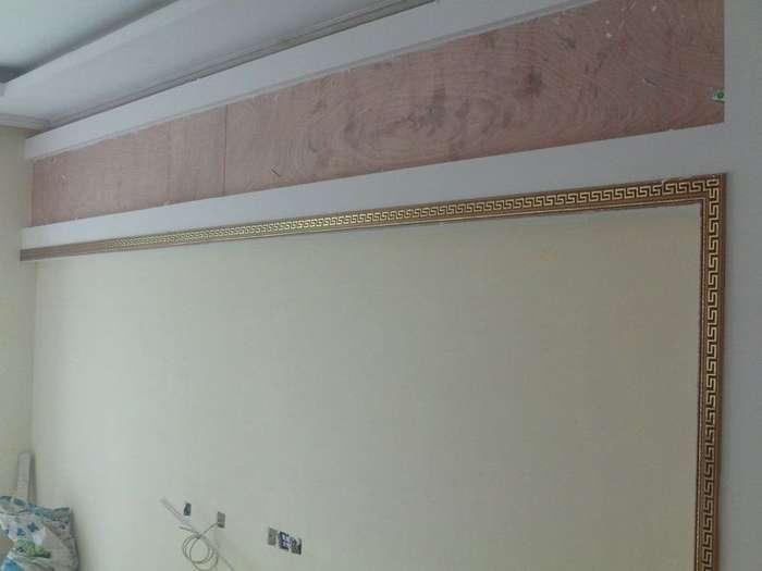 木工石膏板凹凸造型吊顶展示
