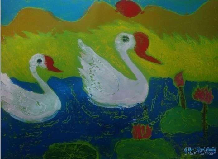 儿童画南京风景画