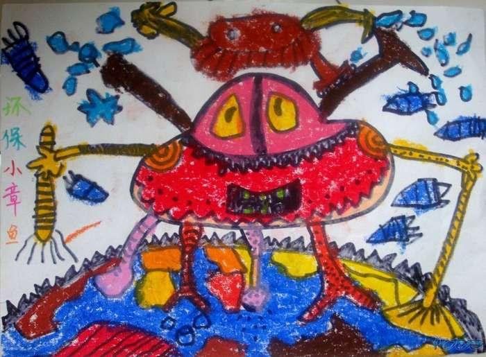 儿童线描风景刮画