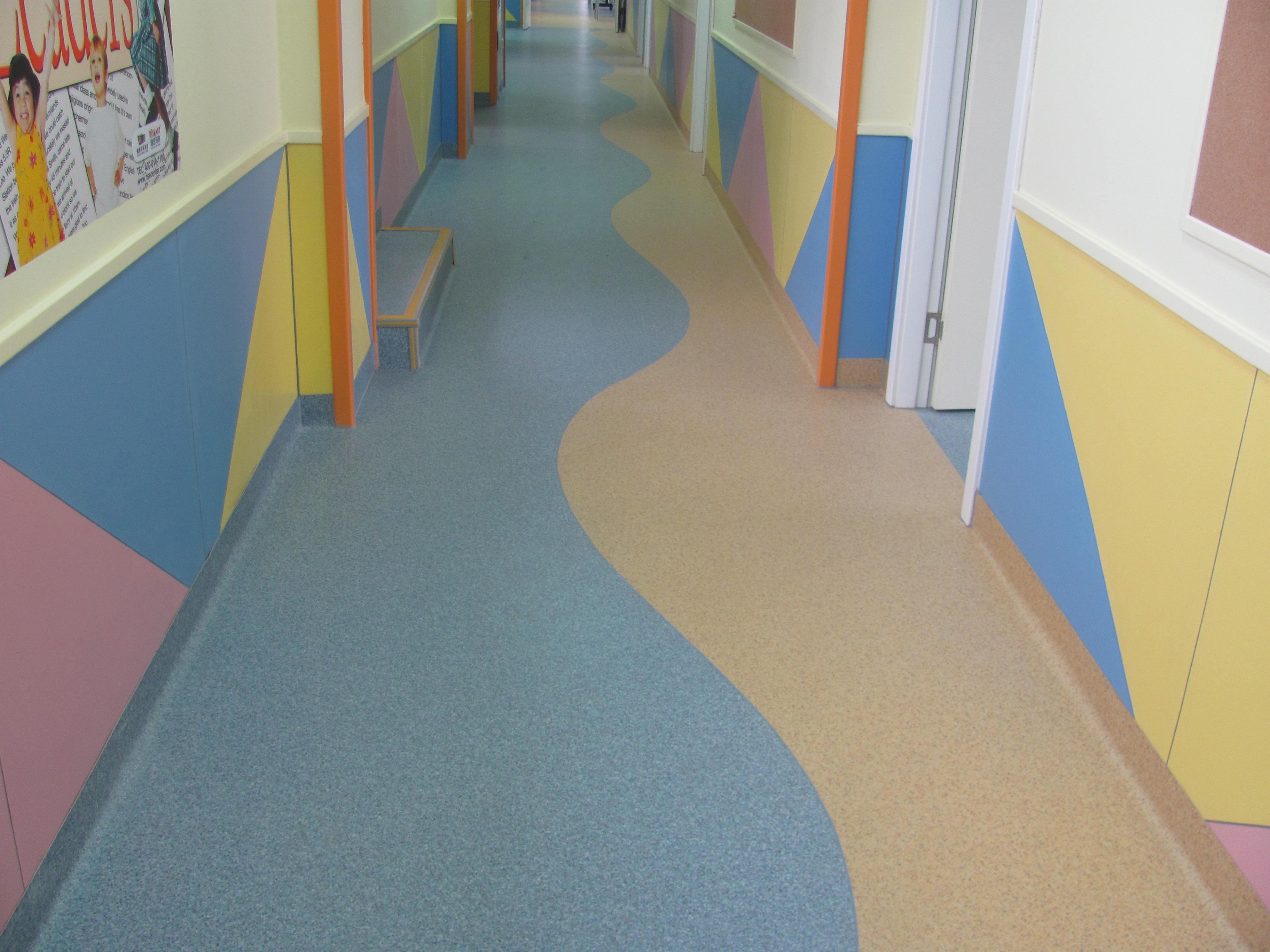 销售 学校PVC地板,幼儿园地胶,培训中心PVC塑胶地板