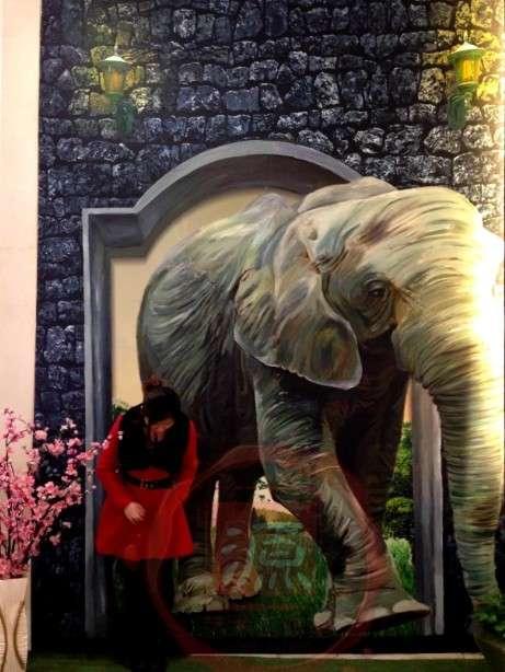 动物3d立体墙绘