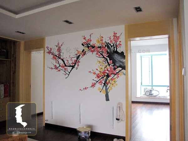 家装墙绘,客厅手绘背景墙 - [举报]