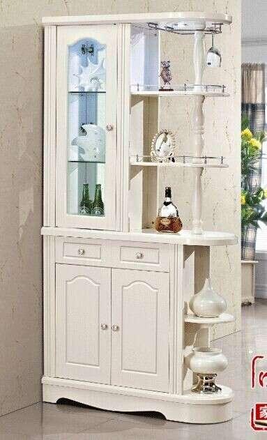欧式白色装饰酒柜_常州二手家具/家居
