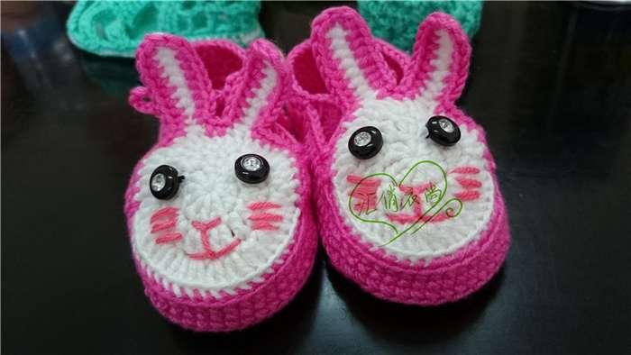 手工编织宝宝鞋老虎鞋兔子鞋凉鞋机器猫鞋质量好不易