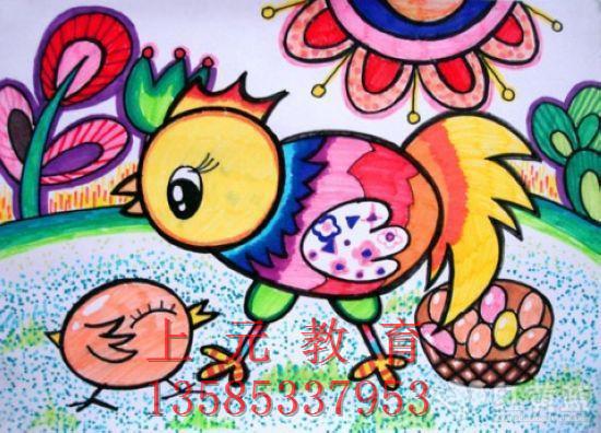 (1)要排除儿童学习绘画以成名成家的功利性目的,不能将儿童美术教育搞成专业教育,不要过早对儿童定向。儿童美术教育只是一种审美的启蒙教育,是以促进儿童全面发展而目的,是培养儿童想象力、观察力、记忆力和创造力的教育,是培养儿童从小心灵向上、向善、向美的心灵教育。 (2)教孩子在学习绘画过程中不但要注意对事物的细致观察,适当地学习基本的技法,更重要的是要孩子理解生活,充分发挥孩子的想象力,画出自己对生活、对所观察事物的细微感受和对未来的畅想。家长对孩子做画过程中的独特之处甚至违背客观实规律的画也要学会欣赏