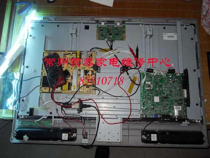常州荣泰家电维修中心专业维修各品牌液晶电视,技术好,收费低。经验丰富,手到病除。经常修到的液晶电视通病有:三星 LA32S71B LS32R81BA 花屏 tcl 40-L46E77-MAE2XG 40-37K73A-MAB 星点 花屏啪啪响 三洋LCD-32CA828 LCD42CA828杂噪音 创维32K08RD/32C08电视尖叫/花屏/自动重启 26L03HR 26L08H 32L08HR不开机 lg电视自动关机 LG 32LH20RC-TA 32LH20R-CA 47LH31FR-CE 32LH