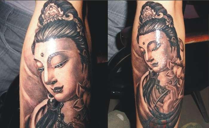 美发大师纹身分享展示图片