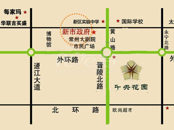 中央花园交通图