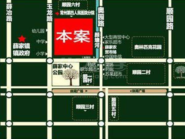 聚怡花园交通图