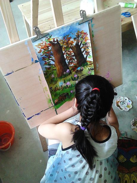 创意 常州/常州新北少儿美术培训金阳光画室 素描水粉创意手工