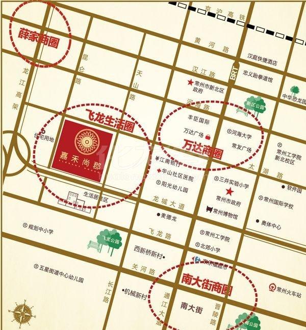嘉禾尚郡交通图