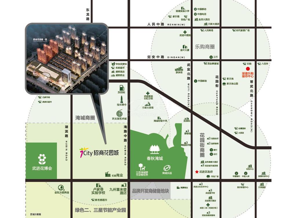 招商花园城交通图