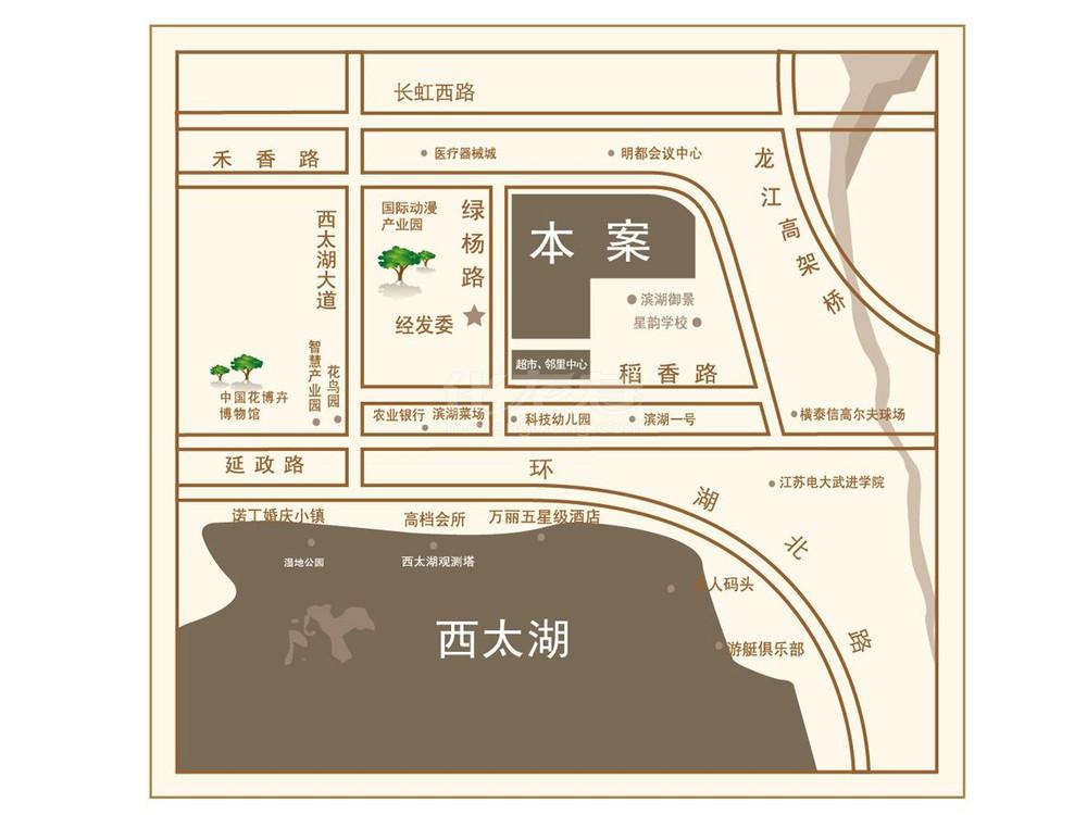 绿地香奈交通图