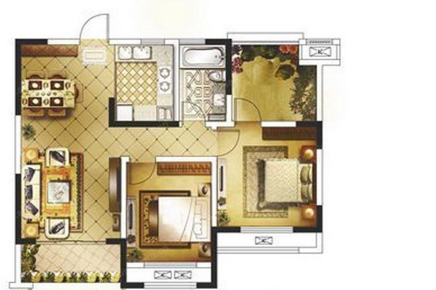 三室一厅设计图展示