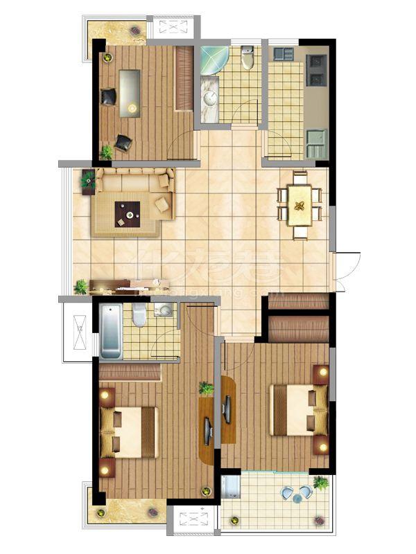 世佳紫缘公寓户型图