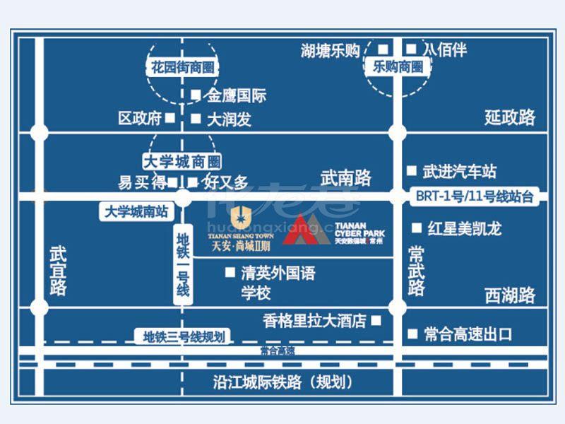 天安尚城二期交通图