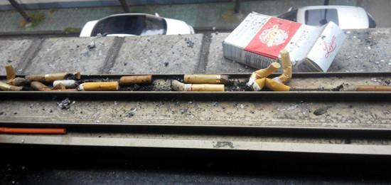 触目惊心:某些烟民们,请手下留情,不要乱扔烟头