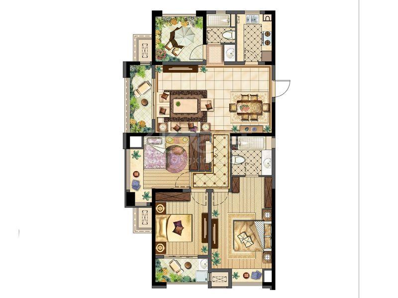 D136平 4房2厅2卫