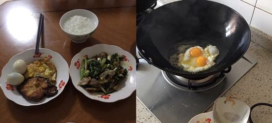 一碗粥加上乡下自家鸡生的双黄蛋,好美味