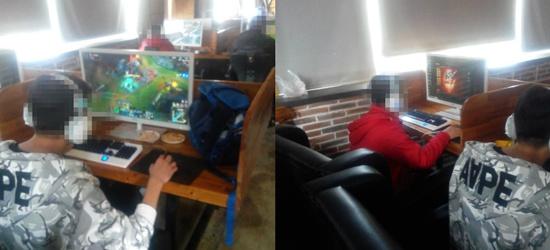 常州大酒店对面三楼绿岛咖啡接纳未成人在内上网打游戏