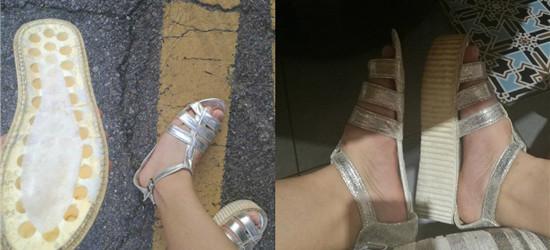 闺蜜新买了双凉鞋第一眼我就笑了,走一天下来变成了这样