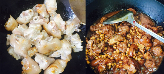 在厨房四个小时大汗淋漓,看看我第一次做黄豆猪爪的成果!