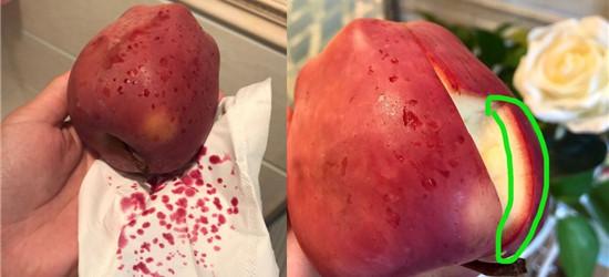 吓懵!女子用热水泡苹果结果冒出血珠!到底是什么情况?