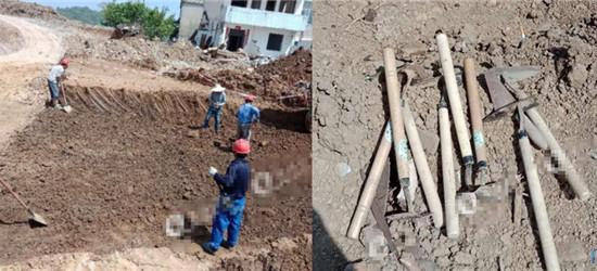 溧阳网友爆料,南航大山下村挖到2000年前的古墓了