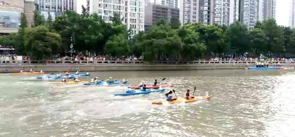 牛!端午节来临,常州大运河上举行双人赛艇活动!