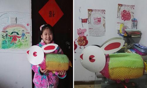 2019年元宵节做个兔子灯给你玩玩,看你开心的