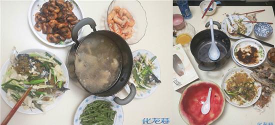 半只鸡,一个鱼头,一斤虾…三人的晚餐80块!吃得一干二净