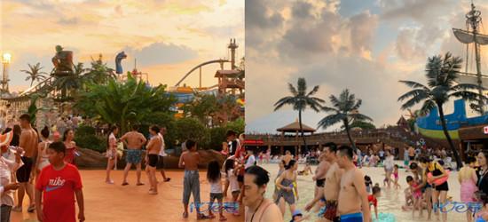 360块的游泳票虽然玩的爽但是人挤人,不如夜排挡来得舒畅
