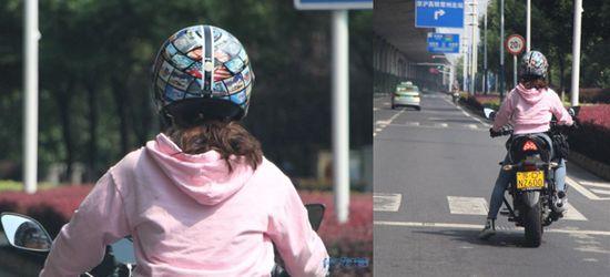 龙江路高架底下遇见超帅摩托车女司机!没看清她长什么样