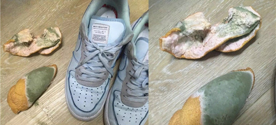 听说柚子皮可以除脚臭,但是放了两天后...难道被传染了?
