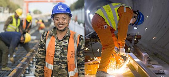 深入地下二三十米,探秘常州地铁2号线轨道铺设工人