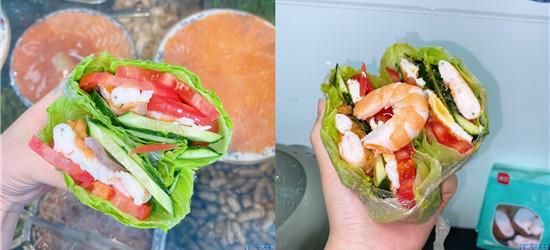 所谓减肥,越减越肥哈哈哈,做个关晓彤同款生菜三明治
